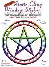 Pentagram Static Cling Window Sticker