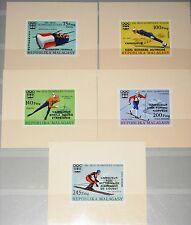 Madagascar MALAGASY 1976 Deluxe 802-06 B medal winner Olympics Innsbruck MNH