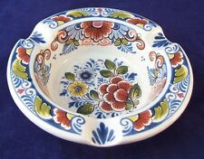Vintage Delft Pottery Multi-Floral Ashtray Made in Holland 850B