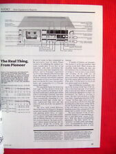 """Pioneer CT-A9, Nakamichi RX-505, Sony TC-K666ES test reviews """"High Fidelity"""" '84"""