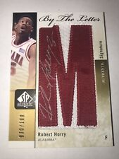2011-12 SP AUTHENTIC #RL-RH ROBERT HORRY AUTOGRAPH LETTER PATCH #30/100, ALABAMA