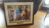 Tiger Woods First Masters Framed print with Jack Nicklaus and Arnold Palmer