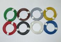 [0,125€/m] Litze  flexibel 18x0,10     8 Ringe a 10 Meter  NEU  -Farbwahl -