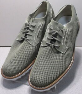 5940845 MS50 Men's Shoes Size 10 M Green Fabric Lace Up Johnston & Murphy