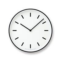 Lemnos MONO Clock White LC10-20B WH Wall Clock Japan 4515030073772