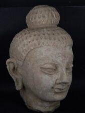 Ancient Large Size Teracotta Buddha Head Gandhara/Gandharan C.300 AD   #IK847