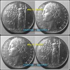 2x ITALY 1976 1977 ITALIEN VULCAN STANDING AT ANVIL 12.5 GRAM 100 LIRA COIN LOT