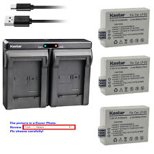 Kastar Battery Dual USB Charger for Canon LP-E5 LC-E5 & Canon EOS 1000D Camera