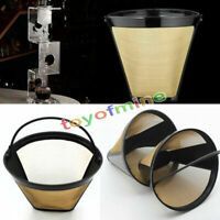 Edelstahl Mesh Conical Permanent Cone-Style Kaffeemaschine Maschine Filter