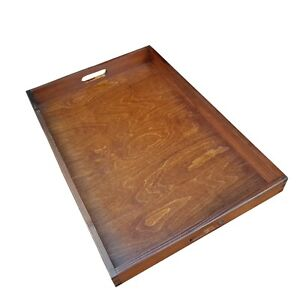 Extra Large Wooden Serving Tray 60 cm x 40 cm x 6 cm, - Brown