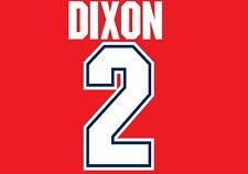 Dixon #2 Arsenal Camisa de fútbol local para hogar 1995-1997