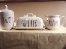 Rae Dunn Artisian Collection Butterdish Creamer & Sweet Bowl