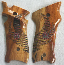 RUGER MKIII TARGET GRIPS EAGLE WINGS & MED's thumb rest & plmswl SPALTED A-18