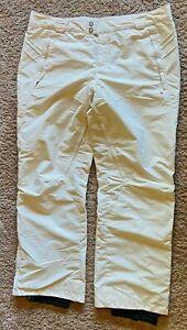 Columbia Snow Pants Omni Tech Waterproof Breathable White Size Womens XL