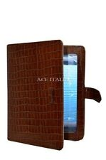 iPAD 2 3 & 4 Tan Croc Print Luxury Real Genuine Leather Cover Case Stand