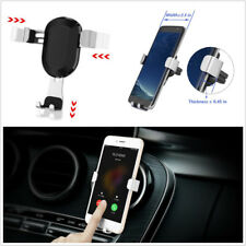 Air Vent Outlet Gravity Silver Car Phone Holder Stand For 3.6-6 Inch Cell Phone