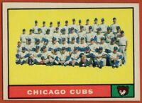 1961 Topps #122 Chicago Cubs Team EX-EXMINT+ Ernie Banks Ashburn FREE SHIPPING
