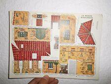 Ancien Découpis Deschamps Maison Quercynoise Quercy habitation papier cartonné