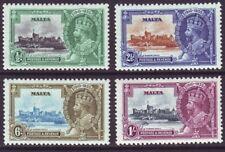Malta 1935 SC 184-187 MH Set Silver Jubilee