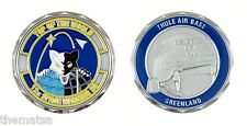 "THULE AIR FORCE BASE GREENLAND TOP OF THE WORLD 1.75"" CHALLENGE COIN"