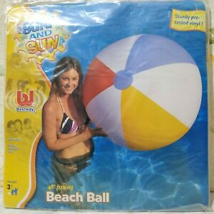 "Inflatable beach ball 48"" by Bestway #31024 (classic style)"