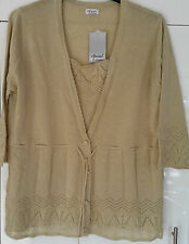 Button No Pattern 3/4 Sleeve Jumpers & Cardigans Plus Size for Women