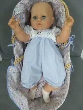 Babypuppe Zapf Weichkörper 60 cm mit Tragekörbchen