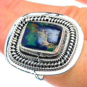 Huge Azurite 925 Sterling Silver Ring Size 7.25 Ana Co Jewelry R49804F