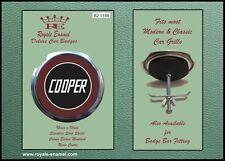 Royale Classic Car Grill Badge + Fittings - MINI COOPER MAROON B2.1186