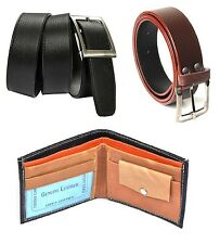 Combo of Black wallet,Black belt and Brown Belt at Best Price with free shipping