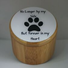 BAMBOO WOODEN STORAGE PET MEMORIAL PET LOSS PET ASHES URN PET KEEPSAKE CUSTOMISE
