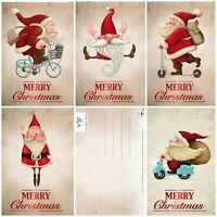 15 lustige Weihnachtskarten /Set mit 5 witzigen Weihnachtsmann-Motiven