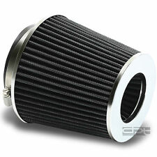 """4"""" 6.75""""H COLD/SHORT RAM INTAKE ROUND/CONE BLACK DRY AIR FILTER+3""""/3.5""""REDUCER"""