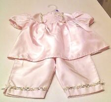 Pink Glossy 2-pc Girl's Dressy Pant Set w/ Floral Details ~ 18 Mo's ~Adorable!