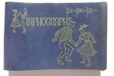Rare 1957 Victor H. Manuel LEATHER Inphograph SCHOOL Address / Information Book