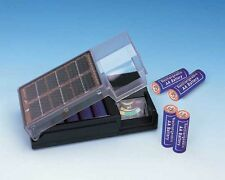 Solar Battery Charger w/ Meter For AA Batteries! Charges 1, 2, 3, or 4 At Once!!