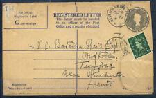 Gran Bretagna 1960 Intero postale 80% Usato Lettera registrata