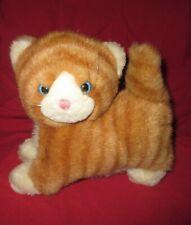 PLUSH ORANGE & WHITE TABBY CAT PICKLES 1987 APPLAUSE Blue Eyes