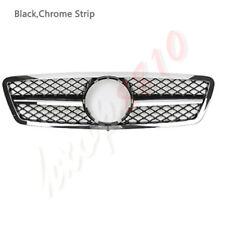 Suitable For Mercedes-Benz C-Class W203 2000-06 Black Chrome Grilles Grille