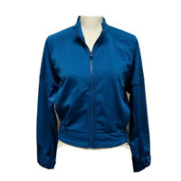 Adidas Shine Bomber Jacket (Women's Size L) Legmar Blue Full Zip Jacket