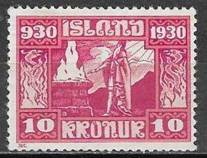 Iceland, 1930, Parliament, 10 kr, MH