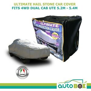 Autotecnica Ultimate Hail Stone Car Cover Fit 4WD DUAL CAB UTE to 5.4m No Canopy