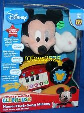 "Disney Mickey Mouse Clubhouse Name that Song 12"" Mickey New Talking play along"