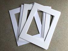 "10 X 30x40cm Picture Mount, 20x29cm Bevel Aperture Edge to fit A4 8""x12"" paper."