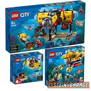 LEGO® City 60263 + 60264 + 60265 Meeresforschungs Sets NEU & OVP