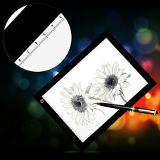 1 Set A4 LED LightBox Pattern Tracing Pad Art Design Stencil Drawing Board
