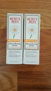 Lots of 2 Burt's Bees Brightening Skin Perfecting Serum, 1 Oz NIB !
