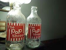 The Pop Shoppe (LOT of 2) Embossed Diamond - Denver, Colorado [GLASS BOTTLES]