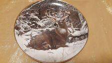 """Winter Stag"" by Bob Travers Collectors Plate, Danbury Mint, Pre-owned, 8.25 in"