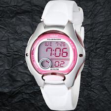 Casio LW-200-7AV Ladies White Pink Digital Watch LED Light Sports with Brand New